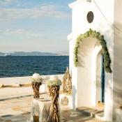Στολισμός γάμου σε νησί