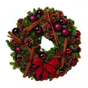 Χριστουγεννιάτικο στεφάνι - red