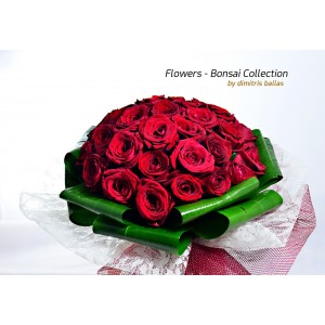 Ανθοδέσμη με κόκκινα τριαντάφυλλα E-Shop