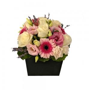 Κουτι με λουλουδια - pink shades