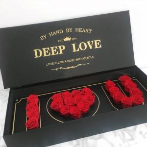 Κασετίνα με κόκκινα τριαντάφυλλα - I love you!
