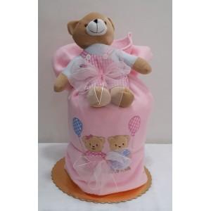 Μωρότουρτα - κουβερτούλα για νεογέννητο κοριτσάκι