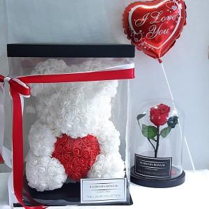 Big Rose Bear, Forever Rose & μπαλόνι