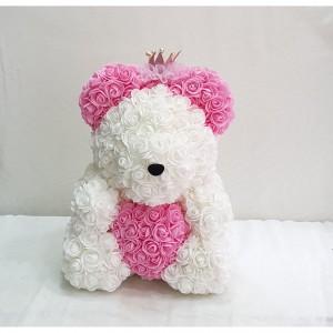 Μεγάλο λευκό ροζ Rose Bear E-Shop