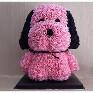 Μεγάλο ροζ-μαύρο Rose Dog E-Shop