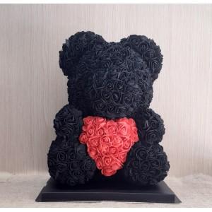 Μεγάλο μαύρο Rose Bear E-Shop