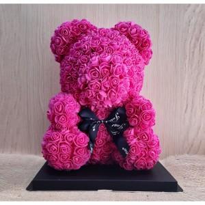 Μεγάλο φούξια Rose Bear E-Shop