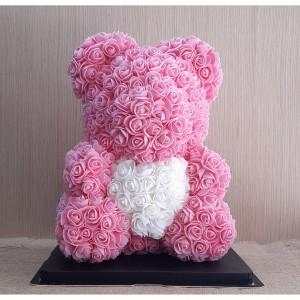 Μεγάλο ροζ Rose Bear E-Shop