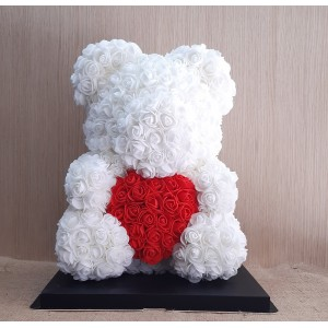 Μεγάλο λευκό - RED HEART Rose Bear E-Shop