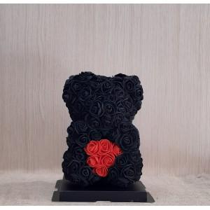 Μικρό μαύρο Rose Bear E-Shop