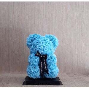 Μικρό γαλάζιο Rose Bear E-Shop