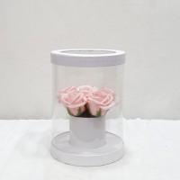 Soap Pink roses σε διάφανο κουτί