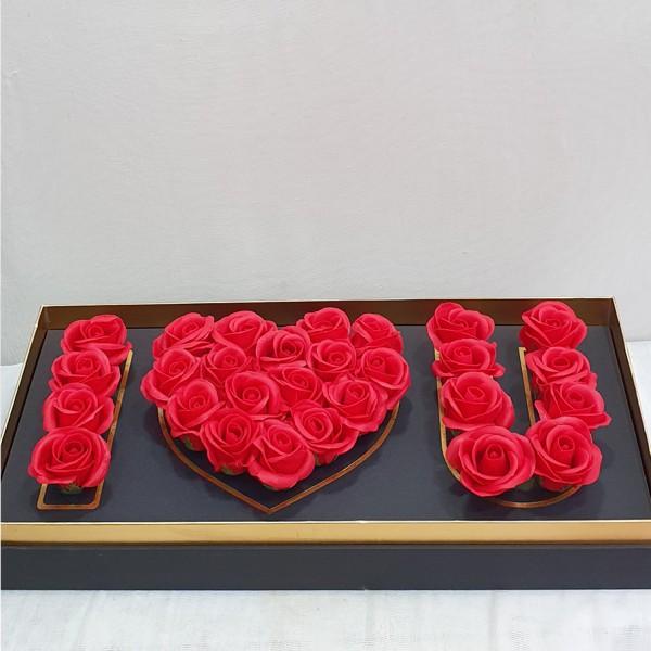 Κασετίνα με τριανταφυλλα, κοκκινα τριανταφυλλα απο σαπουνι, τριανταφυλλα απο σαπουνι