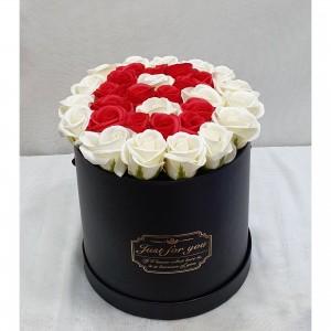 Soap White & Red roses LETTER 'B'