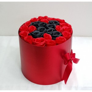Soap Black & Red roses LETTER 'X'
