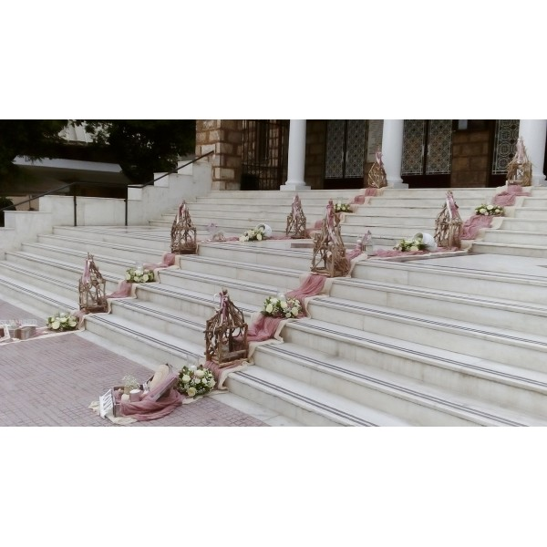 Στολισμος Εκκλησιας - Αγία Αικατερίνη Πετράλωνα - Στολισμός γάμου με θαλασσόξυλα