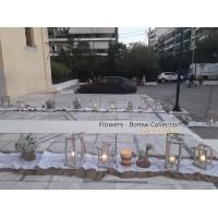 Στολισμος Εκκλησιας - Άγ. Δημήτριος Νέο Φάληρο . Στολισμός γάμου με γυψοφύλλη