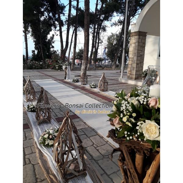 Στολισμος Εκκλησιας - Στολισμος γαμου με θαλασσοξυλα στην Κορινθο
