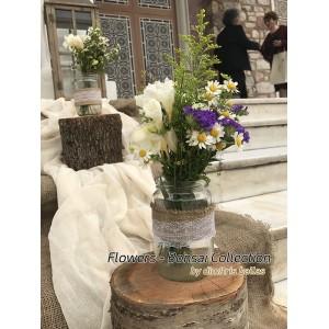 Στολισμός γάμου με λουλούδια του αγρού - Άγ. Νικόλαος Καλλιθέα