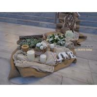 Στολισμος Εκκλησιας - Στολισμός γάμου στον Άγιο Βασίλειο Πειραιά με θαλασσόξυλα