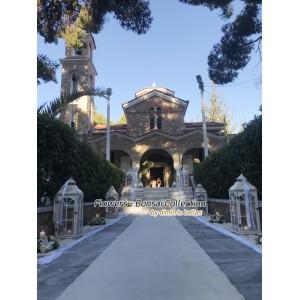 Στολισμος Εκκλησιας - Στολισμός γάμου vintage με ορχιδέες στην Αγία Μαρίνα Εκάλης. Στολισμοί σε Εκκλησία