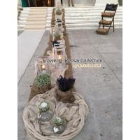 Στολισμος Εκκλησιας - Αγ. Σκέπη - Παπάγου Στολισμός γάμου με λεβάντα & γυψοφύλλη Στολισμοί σε Εκκλησία