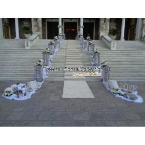 Στολισμος Εκκλησιας - Στολισμός γάμου με ορτανσίες Αγ. Τριάδα - Πειραιά Στολισμοί σε Εκκλησία