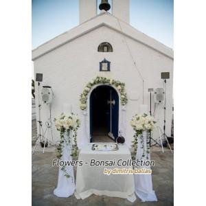 Στολισμος Εκκλησιας - Στολισμός & διακόσμηση γάμου στα λευκά Άγ. Ανδρέας - Νέα Μάκρη Στολισμοί σε Εκκλησία