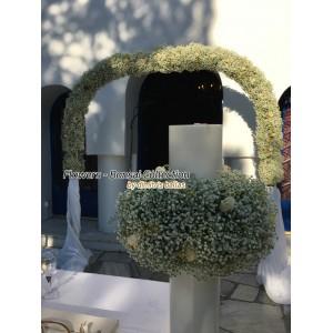 Στολισμος Εκκλησιας -  Άγ. Γεώργιος - Καβούρι - Στολισμός γάμου με χαμομήλι & γυψοφύλλη