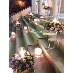 Στολισμος Εκκλησιας - Χειμωνιάτικος στολισμός γάμου  με γυάλες Άγ. Γεώργιος - Κυσονάργους Στολισμοί σε Εκκλησία