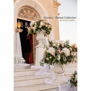 Άγ. Κωνσταντίνος Γλυφάδα  Στολισμός γάμου με ορτανσίες και αμφορείς