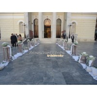 Στολισμος Εκκλησιας - Στολισμός γάμου σε λευκές αποχρώσεις, με λευκές ορτανσίες στον Άγιο Νικόλαο Πειραιά