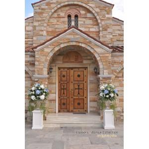 Στολισμός με γυάλινους αμφορείς - Ευαγγελισμός Θεοτόκου Χαλάνδρι