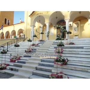 Στολισμος Εκκλησιας - Στολισμοι γάμου με χρυσες λεπτομεριες Ευαγγελίστρια Νίκαιας Στολισμοί σε Εκκλησία