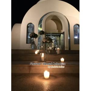 Στολισμος Εκκλησιας - Στολισμός γάμου με γυάλες και ορτανσίες.