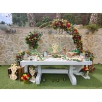 βαπτιση στο casa 28 με τροπικα λουλούδια